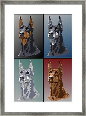 Doberman Colors Framed Print