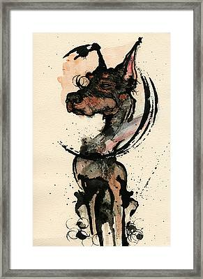 Doberman Framed Print by Mark M  Mellon