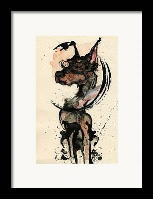 Doberman Framed Prints