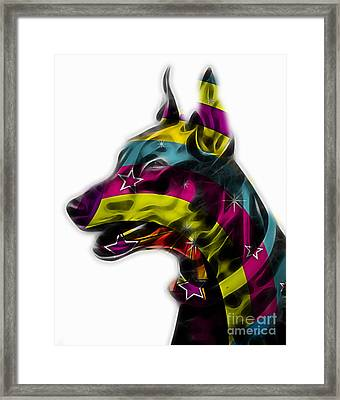 Doberman Pinscher Collection Framed Print by Marvin Blaine