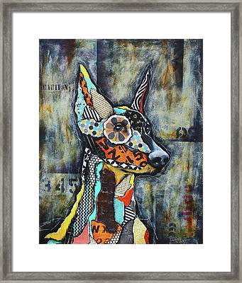 Doberman Pinscher Framed Print