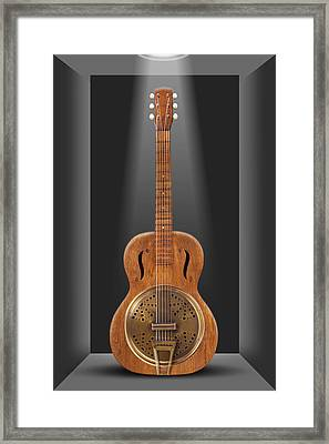 Dobro In A Box Framed Print by Mike McGlothlen