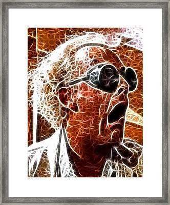 Doc Brown Mistical Framed Print