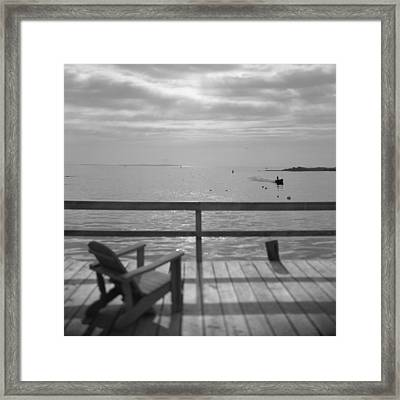 Dock And Chair Framed Print