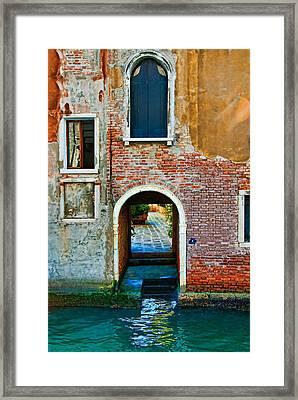 Dock And Windows Framed Print