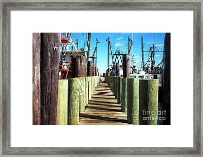 Framed Print featuring the photograph Dock At Barnegat Bay by John Rizzuto