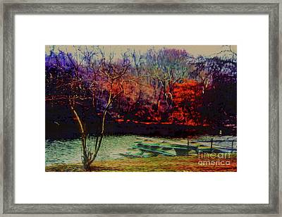 Framed Print featuring the photograph Dock At Central Park by Sandy Moulder