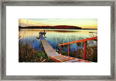 Dock At Gawas Bay Framed Print