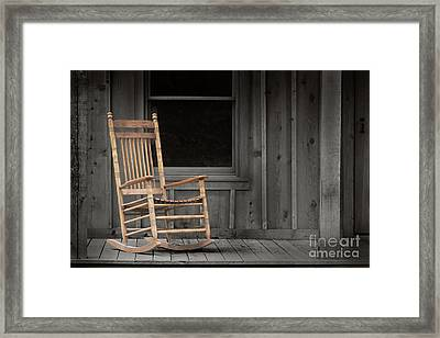 Dock Chair Framed Print