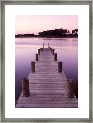 Dock Framed Print by Eric Foltz