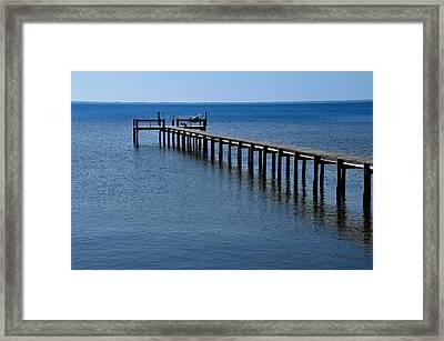 Dock Fisherman Framed Print by Lyle  Huisken