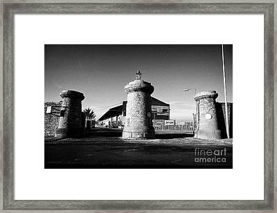Dock Gates To Bramley-moore Dock Liverpool Docks Dockland Uk Framed Print by Joe Fox