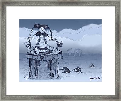 Dock Jester Framed Print