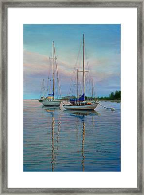 Dock N Dine Framed Print by Bruce Dumas