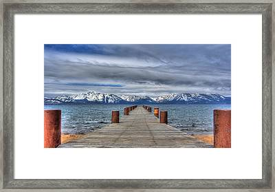 Dock Of Dreams Framed Print by Brad Scott