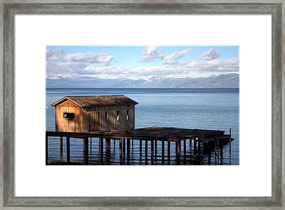 Dock Of Dreams South Lake Tahoe Ca Framed Print by Brad Scott