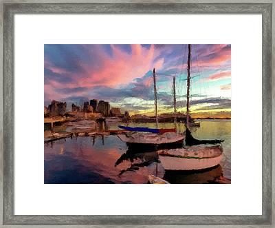 Dock Of The Bay  Framed Print