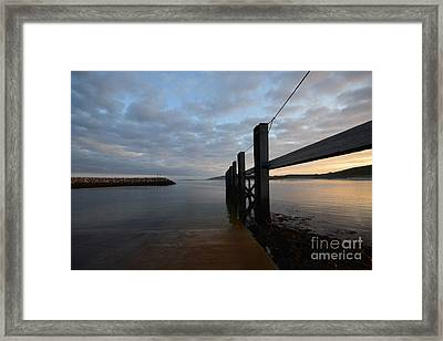 Dock Of The Bay Framed Print by Nichola Denny