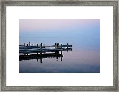 Framed Print featuring the photograph Dock On The Indian River by Bradford Martin