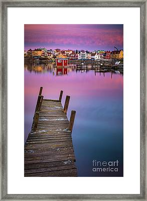 Dock Serenity Framed Print by Inge Johnsson