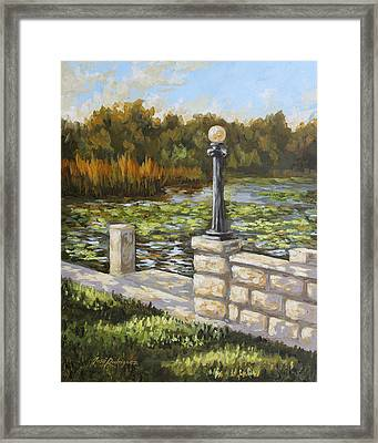 Dock Side Framed Print