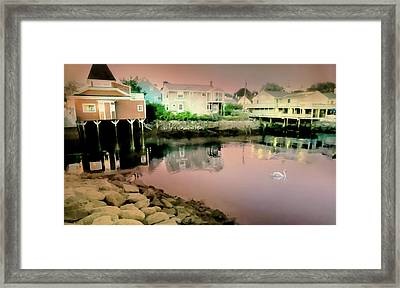 Dock Square Framed Print by Diana Angstadt
