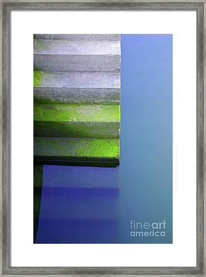 Dock Stairs Framed Print