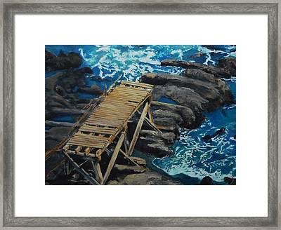 Dock Framed Print by Travis Day