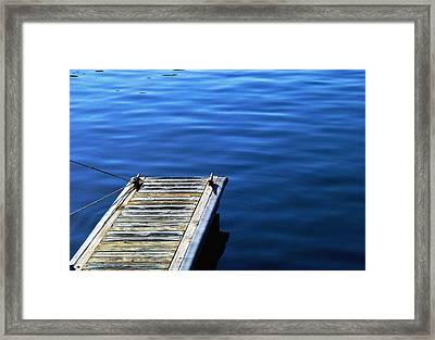 Dock Framed Print by Val Jolley