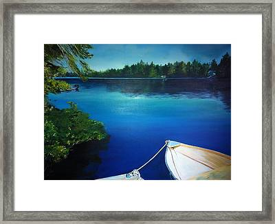 Dock View Framed Print