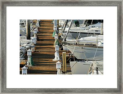 Dock Walk Framed Print