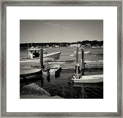 Dock Work Framed Print