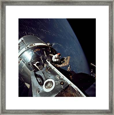 Docked Apollo 9 Command And Service Framed Print by Stocktrek Images