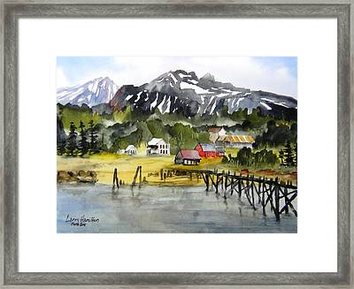 Docked At Haines Alaska Framed Print by Larry Hamilton