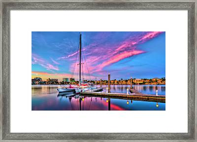 Docked At Twilight Framed Print by Marvin Spates