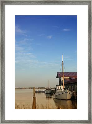 Docked Framed Print by Bill Cannon