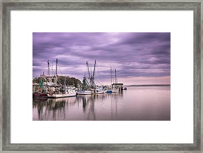 Docked  Framed Print by Drew Castelhano