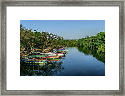 Boats By The River Framed Print