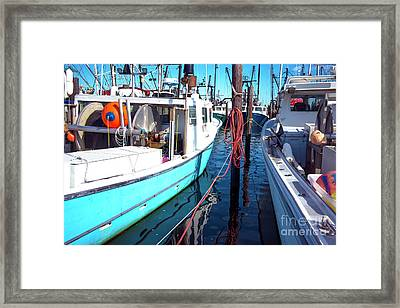 Framed Print featuring the photograph Docked In Barnegat Bay by John Rizzuto