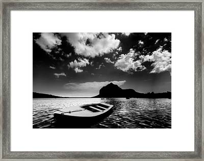 Framed Print featuring the photograph Docked by Julian Cook