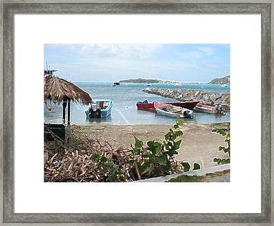 Framed Print featuring the photograph Docked by Michael Albright