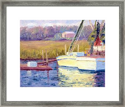 Docked Framed Print by Patricia Huff