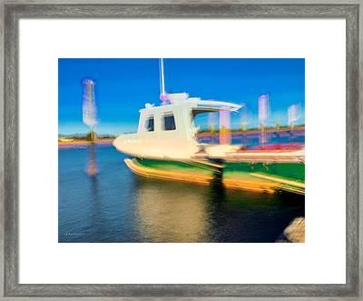 Docked Wellfleet Harbor Framed Print