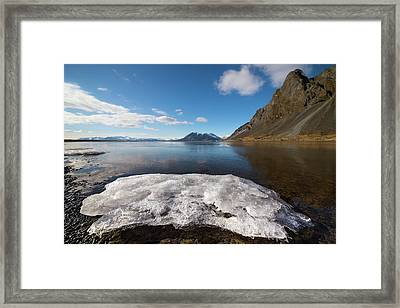 Docking Ice Framed Print by Svetlana Sewell