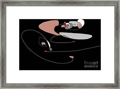 Docking In Space Framed Print