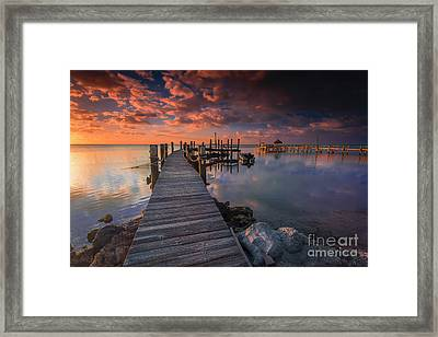 Docks Ahoy Framed Print by Marco Crupi