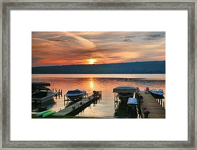 Docks At Dawn Framed Print by Steven Ainsworth