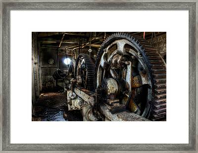 Dockside Gears Framed Print by Michael Dugger