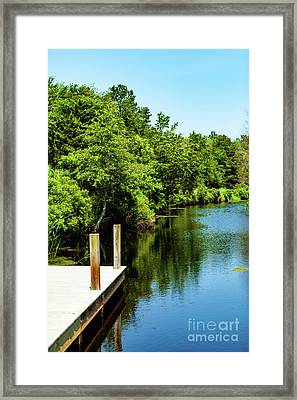 Dockside In Delaware Framed Print