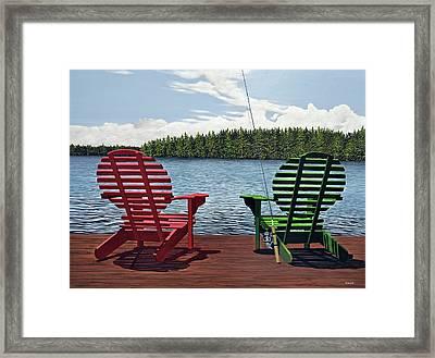 Dockside Framed Print by Kenneth M  Kirsch
